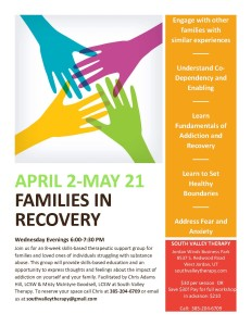 Families In Recovery Flyer 4-2014